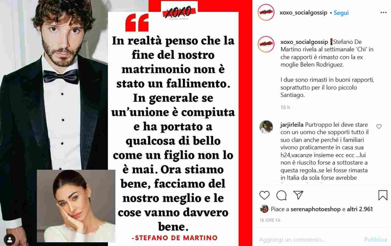 Stefano De Martino sul suo passato: