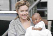 angelina jolie con la figlia adottiva zahara