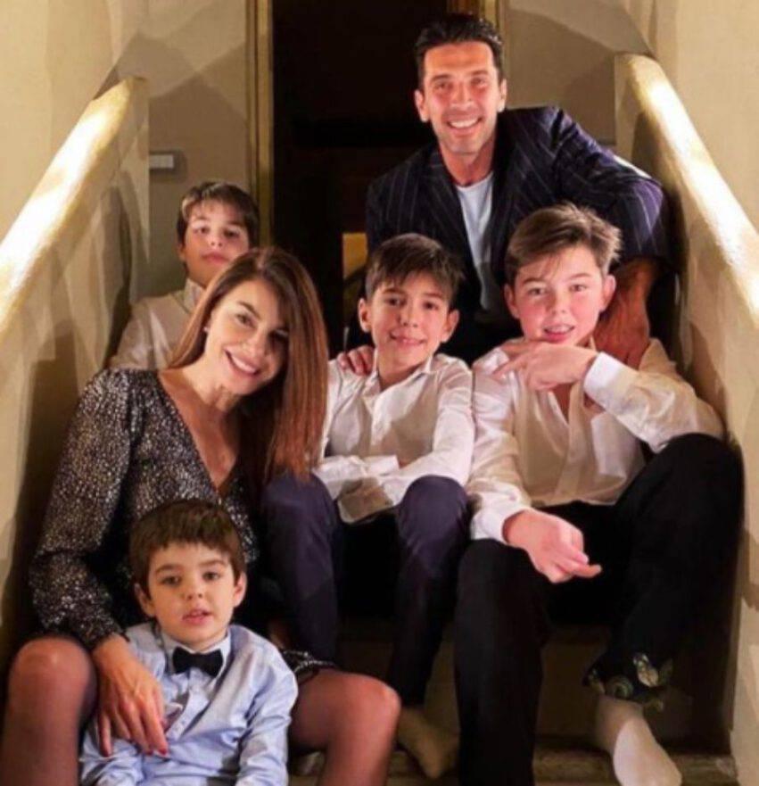 La famiglia allargata di Gigi Buffon