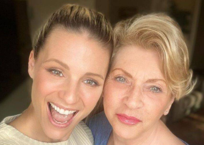 Michelle Hunziker e la madre Ineke