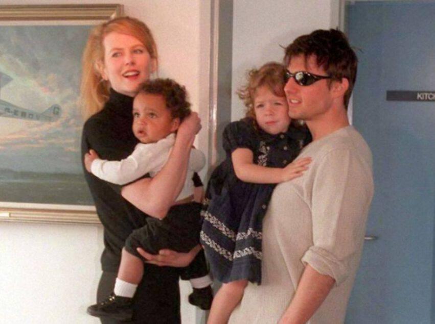 Nicole Kidman e Tom Cruise con i figli Connor e Bella