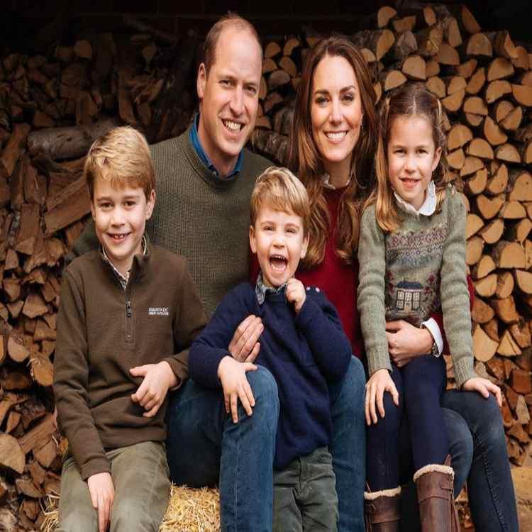 WIlliam e Kate con i figli