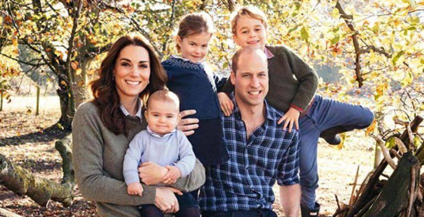 William e Kate con i figli George, Charlotte e Louis