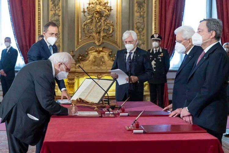 Ministro dell'istruzione Bianchi e Mario Draghi
