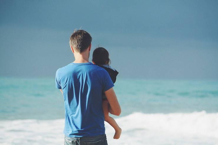 Padre luce per i figli